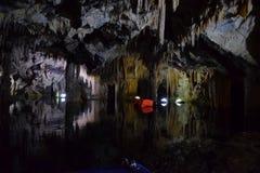 Höhle von Diros, Griechenland stockfotografie