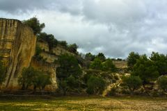Höhle von fantiano zum grottaglie stockfotos