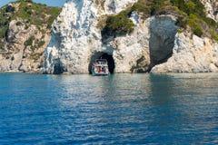 Höhle von Zakynthos-Insel Stockfotos