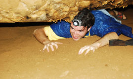 Höhleerforschung Stockfotografie