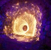 Höhlefeuerwerk Stockfotos