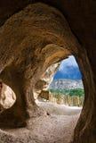 Höhlen in Cavusin, Cappadocia, die Türkei Anatolien Lizenzfreie Stockfotos