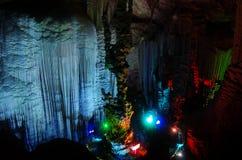 Höhlen Chinas Guilin, silberne Höhle Lizenzfreies Stockbild