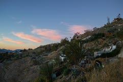 Höhlen-Häuser in Sacromonte-Nachbarschaft, Granada, Spanien lizenzfreies stockfoto