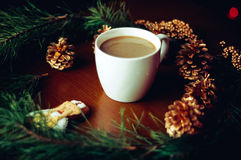 Höhlen Sie einen Kaffee Lizenzfreies Stockfoto