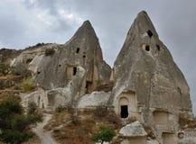 Höhlen Sie Kirchen des Goreme-Freilichtmuseums, klösterlicher Komplex, die Türkei aus Lizenzfreie Stockfotos