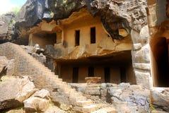 Höhlen Sie Tempel, Bhaja, Maharashtra, Indien aus Lizenzfreie Stockbilder