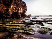 Höhlen-Strand Newcastle, Australien lizenzfreies stockfoto
