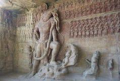 Höhlen-Tempel Indien Stockfotografie