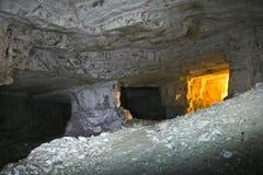 Höhlen von Zedekiah Der Steinbruch von König Solomon Lizenzfreie Stockbilder