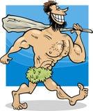 Höhlenbewohnerkarikaturillustration Stockfotos