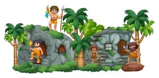 Höhlenfamilie Stockbild