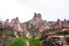 Höhlenhaus-Landschaftsansicht Stockfoto