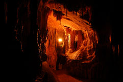 Höhlenkunde Stalagmites lizenzfreie stockfotografie