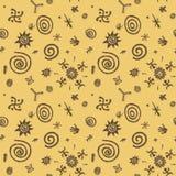 Höhlenmalereien vector nahtloses Muster stock abbildung