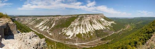 Höhlenstadt von Chufut-Calais typen Stockfotos