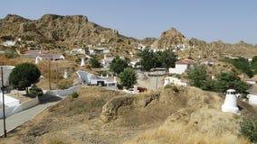 Höhlenwohnungen in Guadix, Spanien Stockfoto
