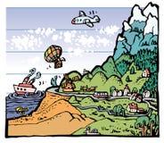 höjd stock illustrationer