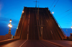 höjd drawbridge Arkivfoto