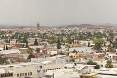 Höjd sikt för Chihuahua Mexico av staden Royaltyfri Fotografi