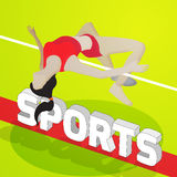 Höjdhoppidrottsman nen för sportbegrepp Arkivbild