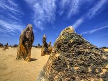 Höjdpunktöknen, Nambung nationalpark, västra Australien Arkivfoto