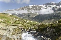 Höjdpunkt av den Heas dalen från den Maillet platån arkivfoton