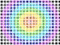 Höjdpunkt - mönstrar färgrika prickar för täthet sömlöst vektor illustrationer