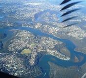 Höjdpunkt ovanför den flyg- sikten för moln Royaltyfri Fotografi