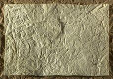 Höjdpunkt specificerad abstrakt förpackande guling rynkad pappers- textur Royaltyfri Fotografi