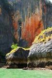 Höjdpunkten vaggar i Pang Nga Bay, Thailand Fotografering för Bildbyråer