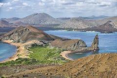 Höjdpunkten vaggar, landskapet för Galapagos öar Royaltyfri Bild