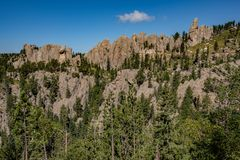 Höjdpunkterna, Custer State Park, South Dakota royaltyfri foto