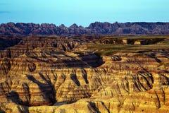 Höjdpunkterna förbiser, Badlandsnationalparken i South Dakota arkivfoto