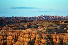 Höjdpunkterna förbiser, Badlandsnationalparken i South Dakota royaltyfri fotografi