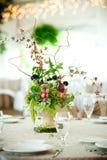höjdpunkttabellbröllop royaltyfria foton