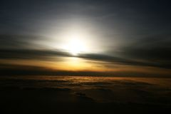 höjdsoluppgång Royaltyfri Foto