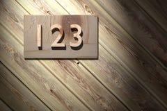 123 hölzern Lizenzfreie Stockfotografie