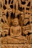 Hölzern Handcraft von Lord Buddha Stockfotografie