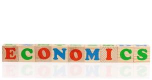 Hölzerne Ñ- ubes mit Buchstaben Lizenzfreies Stockfoto