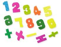Hölzerne Abbildungen für Studie der Mathematik Stockbild