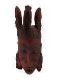 Hölzerne afrikanische Maske Lizenzfreies Stockfoto