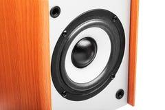 Hölzerne akustische Spaltengraufarbe Stockbilder