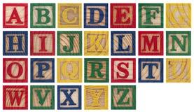 Hölzerne Alphabetblöcke Stockfotografie