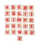 Hölzerne Alphabetblöcke lokalisiert auf Weiß Lizenzfreie Stockbilder