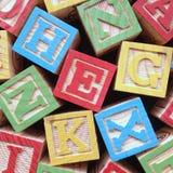 Hölzerne Alphabetzeichen Stockbild
