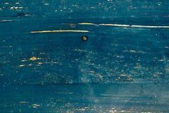 Hölzerne alte blaue Plankenbeschaffenheit als Hintergrund Stockfotos