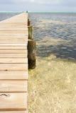 Hölzerne Anlegestelle in Karibischen Meeren Lizenzfreie Stockfotos