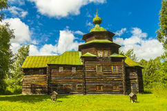 Hölzerne Architektur, die Kirche von Elija der Prophet lizenzfreies stockfoto