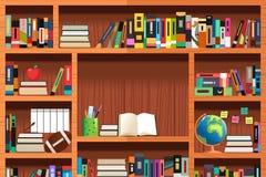 Hölzerne Bücherregale Lizenzfreies Stockfoto